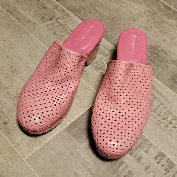 NWOT Bubblegum Pink Rockport Adidas Clog Mules